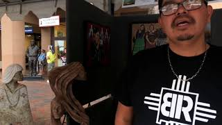 Santa Fe Indian Market 2018 - Artist Interviews | Adrian Wall - Jemez Pueblo - Sculpture