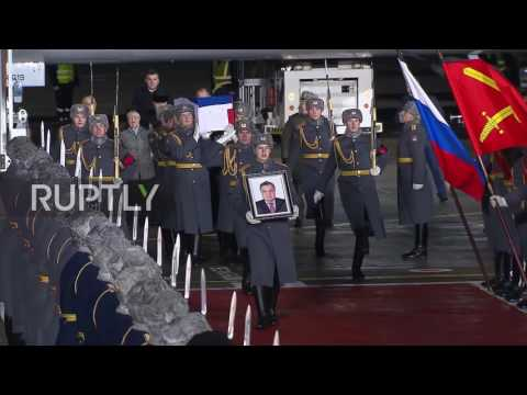 Russia: Remains of slain Russian ambassador arrive in Moscow