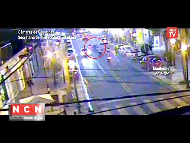 CINCO TV - El COT asistió rápidamente a una mujer que fue atropellada por una motocicleta