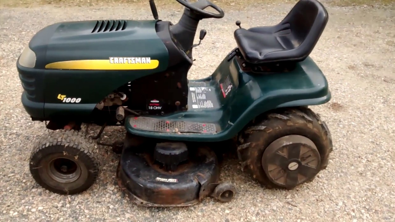 Craftsman Lt1000 Mower Manual : Craftsman lt lawn tractor review youtube