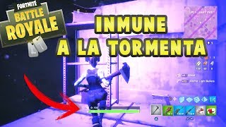COMO SER INMUNE A LA TORMENTA GLITCH | FORTNITE BATTLE ROYALE