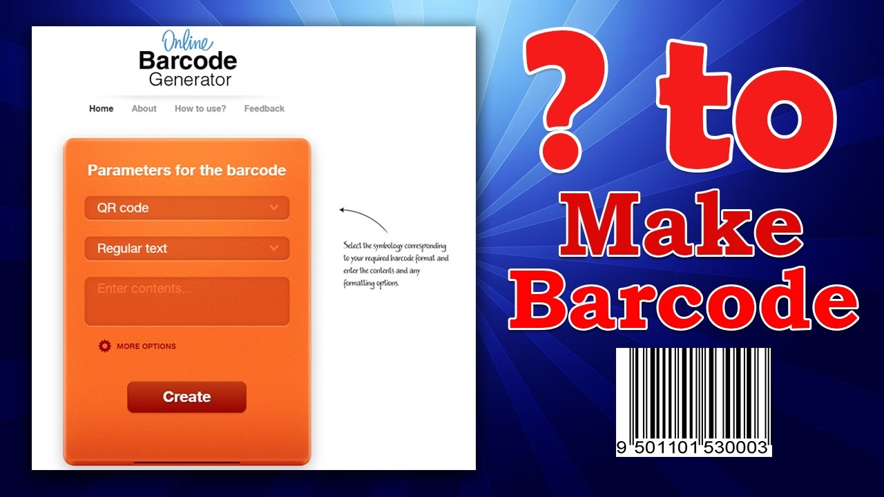 How to Generate Barcode online