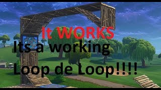 How to build a WORKING loop de loop in Fortnite Battle Royale