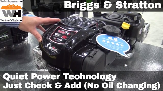 Briggsstratton Quiet Technology With Just Check And Add Weekend Handyman
