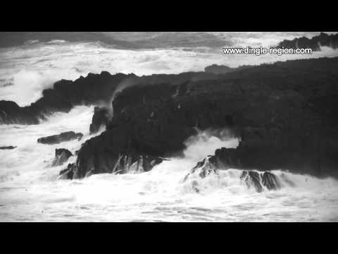 Battering of the Dingle Peninsula coastline by Atlantic storms
