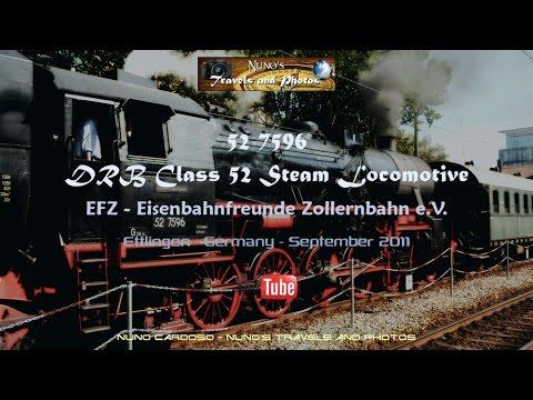 DRB Class 52 Steam Locomotive - Dampflokomotive - Ettlingen - Germany