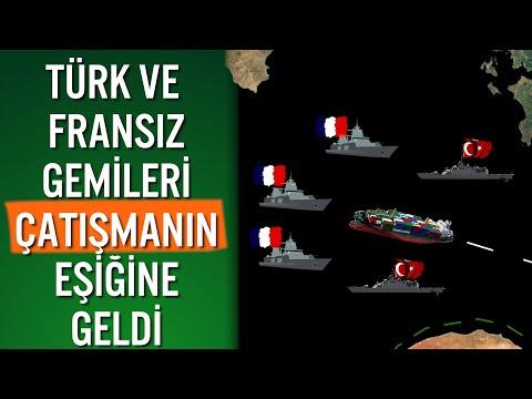 TÜRK - FRANSIZ SAVAŞ GEMİLERİ DOĞU AKDENİZ'DE KARŞI KARŞIYA GELDİ