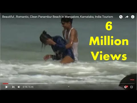 Beautiful , Romantic, Clean Panambur Beach  in Mangalore, Karnataka, India Tourism