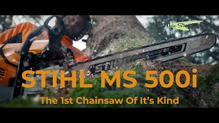 STIHL MS500i - First Look USA - 1st Ever fuel-injected Chainsaw!