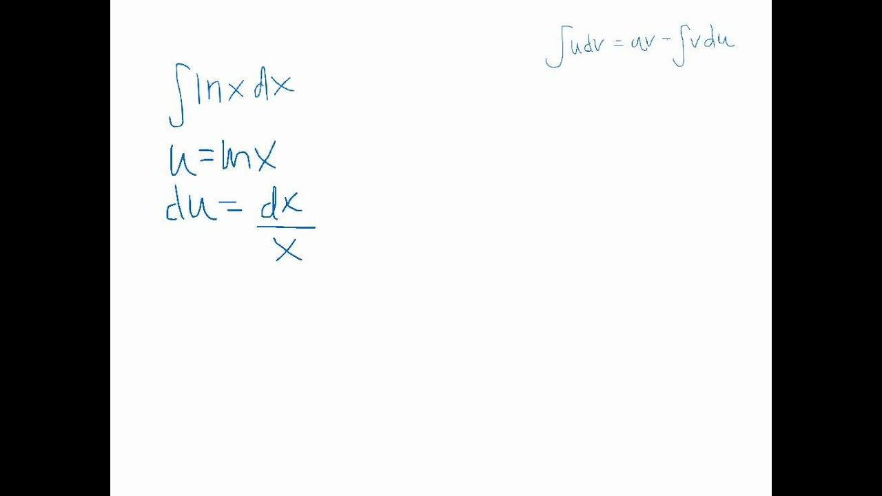 Antiderivative of ln(x) - YouTube
