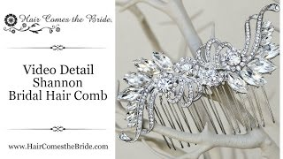 Rhinestone Bridal Hair Comb by Hair Comes the Bride - Shannon