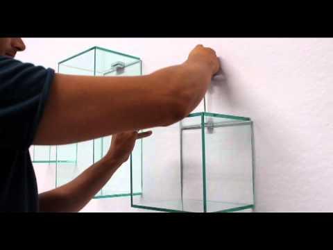Ve ca italy cubi in vetro istruzioni per il fissaggio a - Supporti per specchi a parete ...