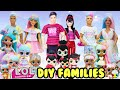 Gambar cover LOL Families Compilation Sugar, Spice, and Bon Bon Family DIY With Barbie and Ken Makeovers