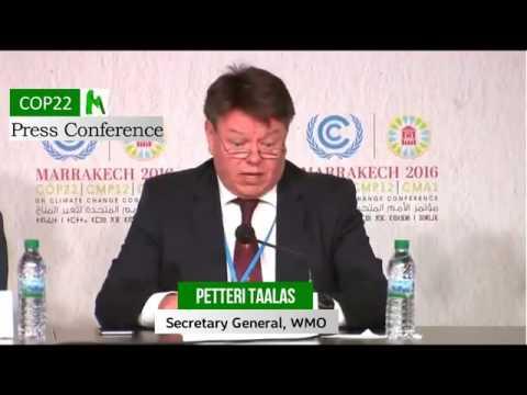 COP22: WMO Full Press Conference (November 2016)