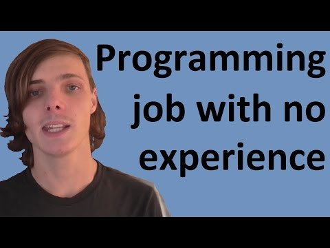 How to get a programming job with no experience for high school students