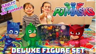 PJ MASK - Deluxe Figure Set (Bonus Paw Patrol Play May)