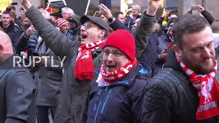 Germany: Liverpool fans take over Munich