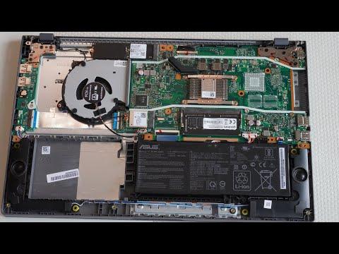 Ноутбук ASUS M509DA - разборка, добавление памяти, советы, краткий обзор.