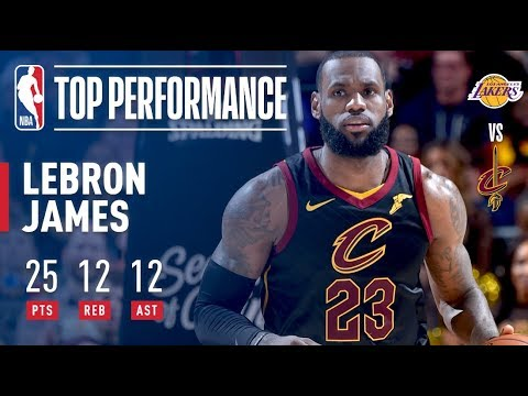 Download Youtube: Lebron James ELECTRIC Perfromance vs. The Lakers