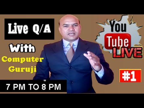 ComputerGuruji Live Streaming #1- Digitize India Online Data Entry Work Problem and Solutions