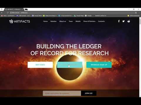 ARTiFACTS' blockchain based researcher platform overview