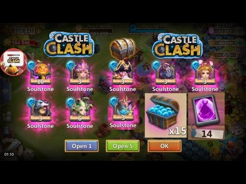 Castle Clash Soulstone Chest , Opening Tons Of Warehouse Items And Double Events