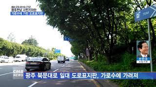 [CMB뉴스][시민기자단] 도로 안내판을 가린 가로수 …