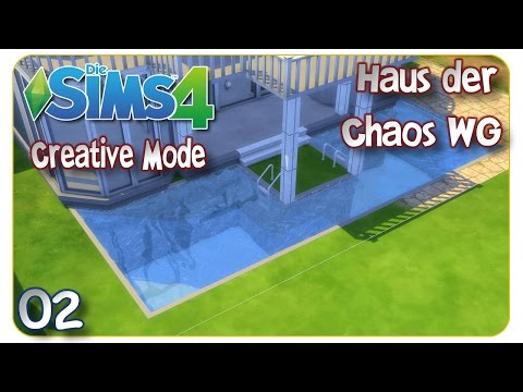 Die Sims 4 - Creative Mode: Haus der Chaos WG #02 Verrücktes Design