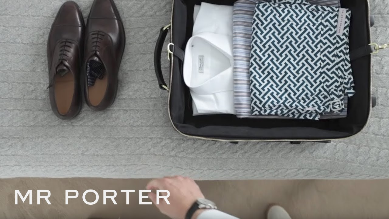 How to pack for a business trip youtube for Mr porter live