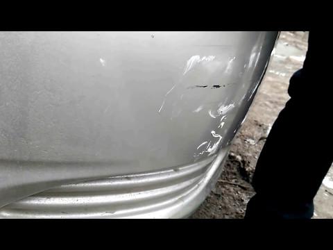 Удаление царапин на бампере автомобиля своими руками