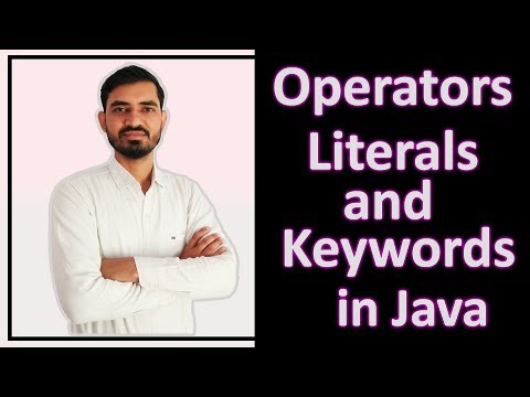 Operators, Literals & Keywords in Java by Deepak (Hindi
