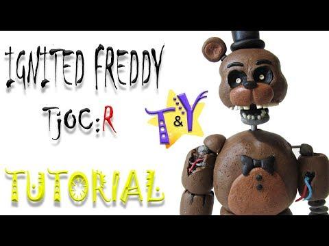 Как слепить Игнайт Фредди ФНАФ из пластилина Туториал Ignited Freddy TjOC R from clay Tutorial