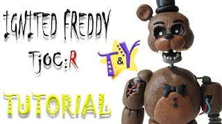 Как слепить Игнайт Фредди ФНАФ из пластилина Туториал Ignited Freddy TjOC R from clay Tutorial