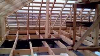 видео Стропильная система шатровой крыши: работы по устройству