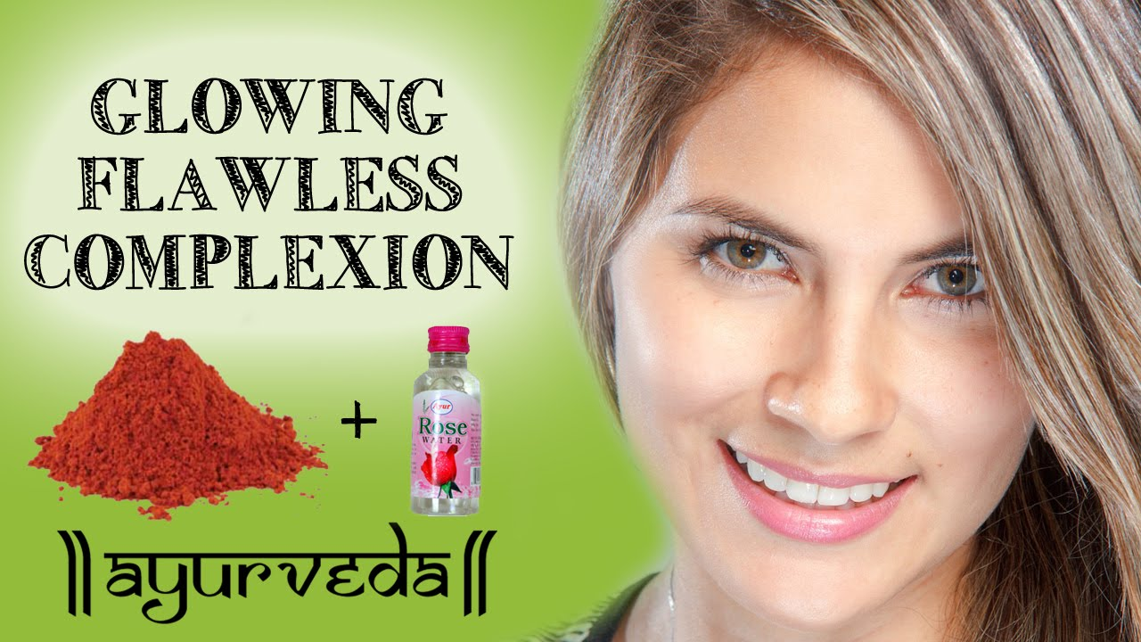Glowing Flawless Skin Complexion   Red Sandalwood and Rose Water ...