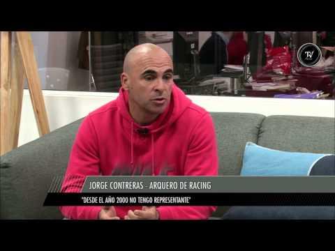 Jorge Contreras, arquero del sorprendente Racing