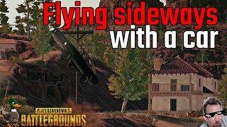 Flying Sideways with a car in PUBG