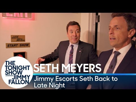 Jimmy Escorts Seth Meyers Back to Late Night After The Tonight Show