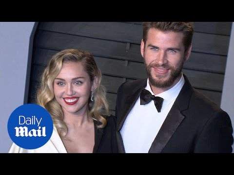 Miley Cyrus And Liam Hemsworth Attend The Vanity Fair Bash - Daily Mail