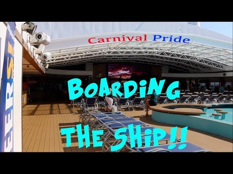 CARNIVAL PRIDE CRUISE VLOG 2017 Day 2 PART I | Boarding the Ship!
