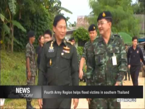 Fourth Army Region helps flood victims in southern Thailand