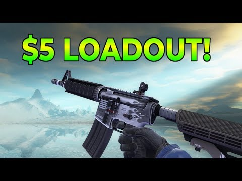 CS:GO - COMPLETE Loadout Under $5! (Cheap Skins Budget Loadout)
