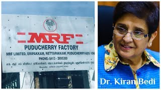 "Dr. Kiran Bedi lauds ""MRF"" Puducherry