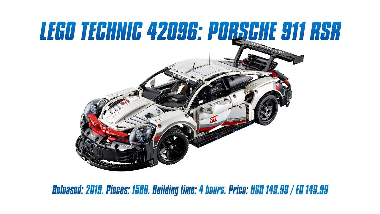 lego technic 42096 porsche 911 rsr in depth review speed. Black Bedroom Furniture Sets. Home Design Ideas
