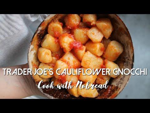 Trader Joe's CAULIFLOWER GNOCCHI   Gluten Free & Vegan   Cook with NOBREAD