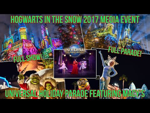 Universal Studios Orlando Christmas 2017 Christmas in the Wizarding World and Macy's Parade in Full