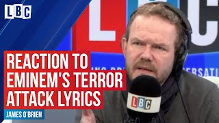 James O'Brien's reaction to Eminem's Manchester Arena bombing lyrics