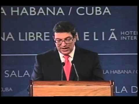 Conferencia de Prensa del Canciller Cubano Bruno Rodríguez Parrilla