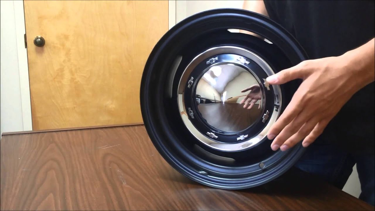 Chevy OE Steel Wheel, With Multiple Hub Cap Options - YouTube