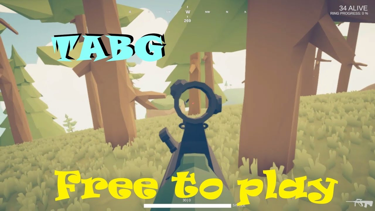 TABG - Totally Accurate Battlegrounds Gameplay